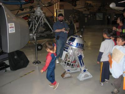 R2 at Hiller Aviation Halloween event 2007